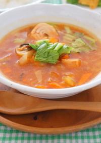 北海道自慢の和だしトマトスープカレー