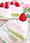 ひな祭り♡お豆腐の三色チーズケーキ