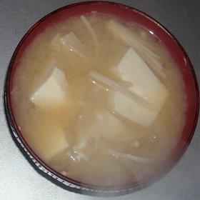玉葱&大根&えのき茸&豆腐の味噌汁