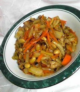 白菜タップリ♪酢豚風(黒酢入り)