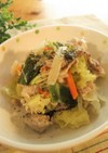 肉野菜×【あっさりなめたけ】のクリーム煮