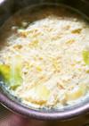 簡単!キャベツ&ふわふわ卵のおかず味噌汁