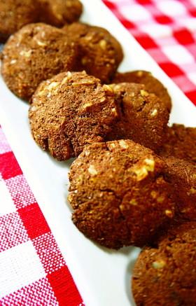 糖質オフお菓子★胡桃ココアおからクッキー