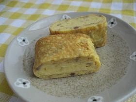 お弁当・朝食に♡簡単なめたけ入り卵焼き