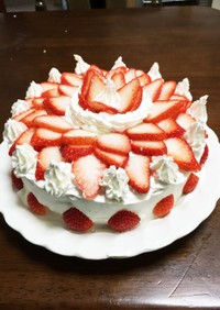 市販のスポンジでデコレーションケーキ♡