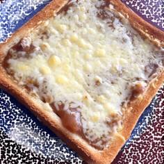 カレー&チーズで出来る食パンアレンジ