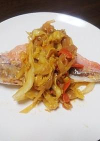 赤魚の味噌炒め添え