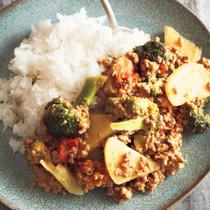 ごろっと野菜のキーマカレーライス