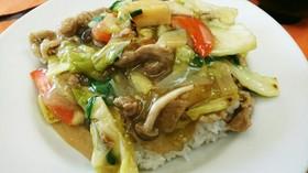 自家製のラーメンスープで簡単中華丼