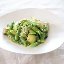 グリーンサラダの新玉ねぎマリネ