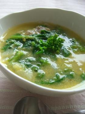春色☆菜の花コーンスープ