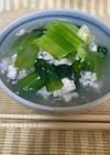 朝食に♪小松菜鶏そぼろあんかけ丼