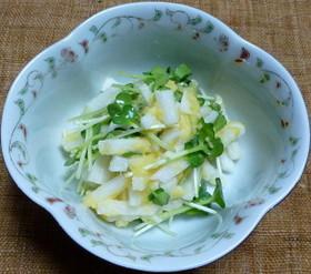 長芋とかいわれ菜の生からすみ和え