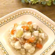 【離乳食 後期】豆腐と鶏ひき肉の麻婆風