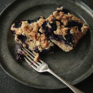 ブルーベリーのクランブルケーキ