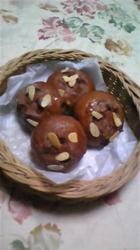 ココアフルーツパン♪