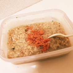 オートミール粥(レンジ)