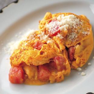 トマト入りオムレツ