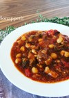 イタリアの家庭料理☆牛肉と豆のスープ