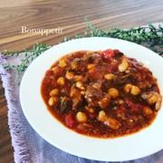 イタリアの家庭料理☆牛肉と豆のスープの写真