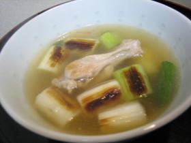 風邪撃退チキンねぎスープ