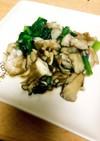 鱈と小松菜とまいたけのソテー