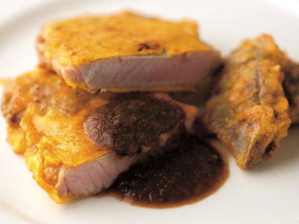 豚ロース肉とタンのピカタ