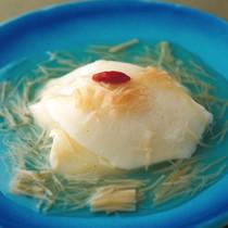 卵白蒸しの干し貝柱ソース