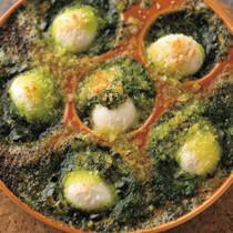 うずらの卵のエスカルゴ仕立て