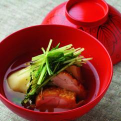 じゃがいもと鶏肉、水菜の煮浸し