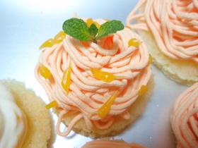 みかんのモンブラン風ケーキ