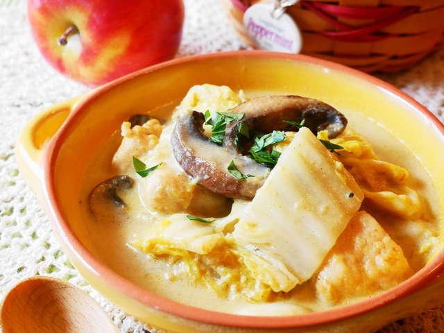白菜と鶏むね肉のカレークリーム煮 By るるおか クックパッド 簡単