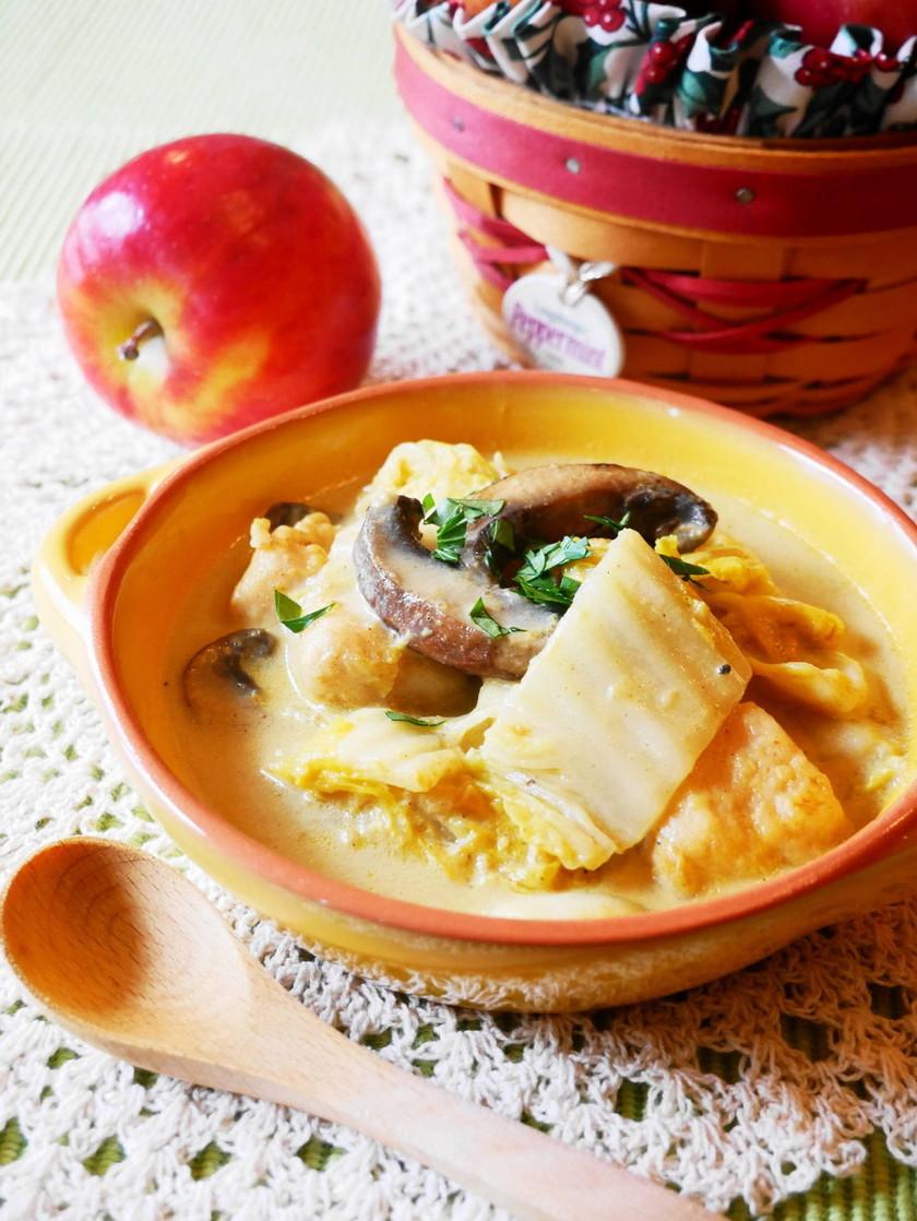 白菜と鶏むね肉のカレークリーム煮