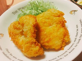 醤油で食べる鶏むね肉のチキンカツ