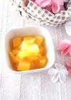 【離乳食 中期】りんごのみかんコンポート
