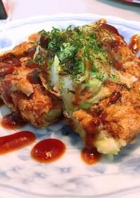 簡単ふわふわ!豆腐と納豆ヘルシーお好み焼