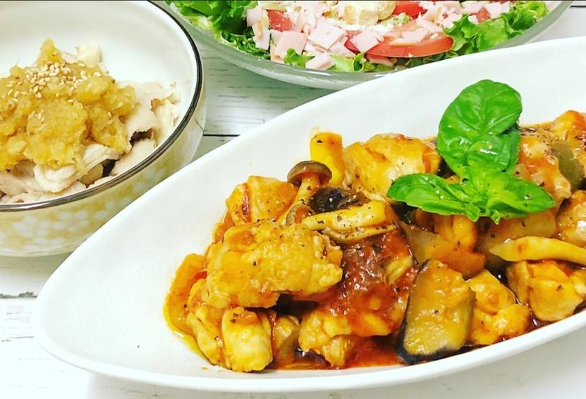鶏肉と彩り野菜のトマト煮