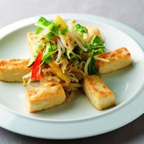 豆腐ともやしの和え物