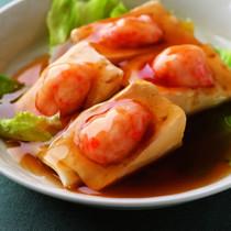 豆腐のえびすり身詰め蒸しオイスターソース風味
