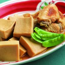高野豆腐と手羽先の含め煮