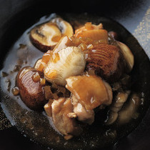 マッシュルームと鶏肉の煮込み
