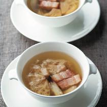 やまぶし茸入りスープ