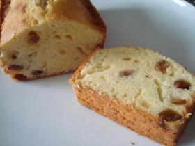 ラムレーズンのケーキ