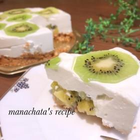 簡単キウイのヨーグルトタルトケーキ