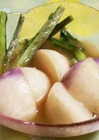 鎌倉野菜♡あやめカブの御漬け物