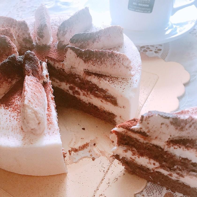ティラミス風のチーズムースケーキ