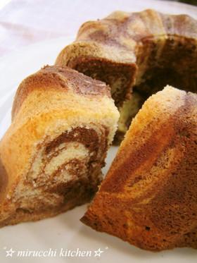 ホワイト&ミルクチョコのマーブルケーキ