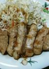 豚ロースのニンニク焼き(๑ºัºั๑)♡