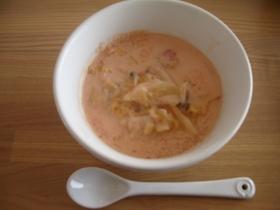 ルクルーゼで♪豆乳トマトスープ