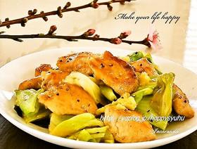 鶏胸肉と春キャベツ☆甘辛炒め